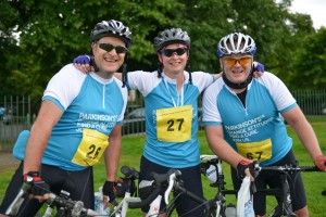 Pedal For Parkinsons Bike Ride in Stirling 5th August 2012.