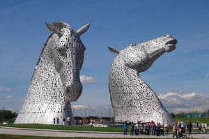 Another Attraction In The Falkirk Area Is Helix Where You Can Get Up Close And Personal With Kelpies Mythical Water Horses As Seen Here