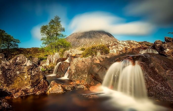Highland waterfall