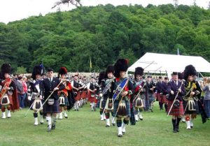 Pie Band at Highland games